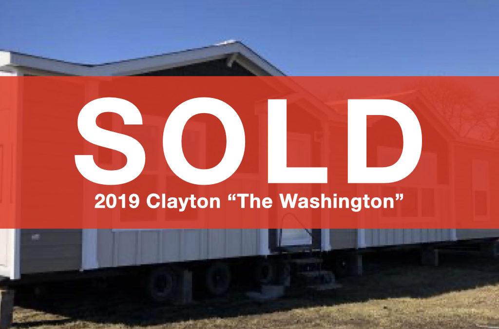 "2019 Clayton ""The Washington"" — 28×60 — 3 Bedrooms, 2 Bathrooms"