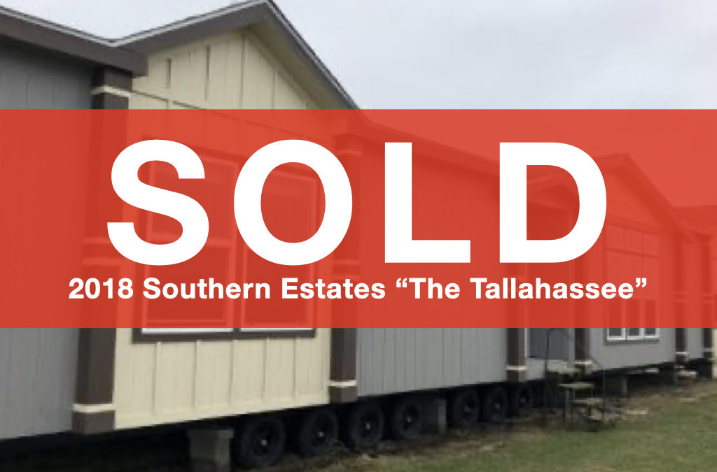 """2018 Southern Estates """"The Tallahassee"""" — 32×68 — 3 Bedroom 2 Bath"""